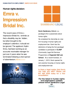 Sambrano Legal Human Rights Newsletter